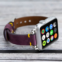 Ferro Strap - Full Grain Leather Band for Apple Watch 38mm / 40mm - PURPLE - saracleather