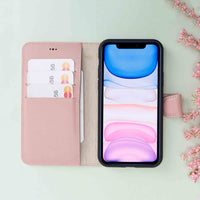 "Magic Magnetic Detachable Leather Wallet Case for iPhone 11 Pro (5.8"") - PINK - saracleather"