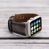 Full Grain Leather Band for Apple Watch 38mm / 40mm - EFFECT GRAY - saracleather