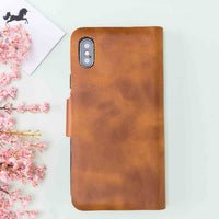 "Sirius Leather Wallet Case for iPhone XS Max (6.5"") - TAN - saracleather"