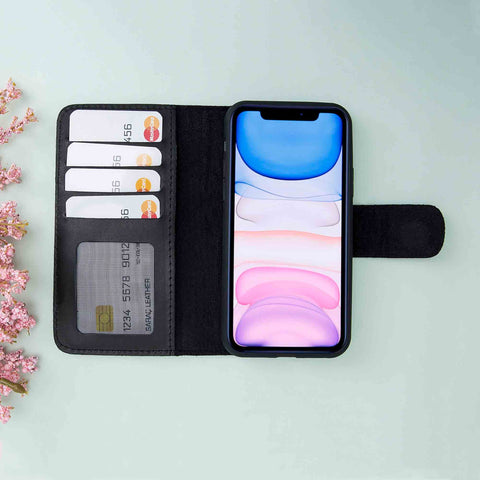 Liluri Magnetic Detachable Leather Wallet Case for iPhone 11 (6.1