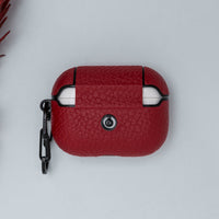 Juni Leather Capsule Case for AirPods Pro  - RED - saracleather