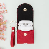 Mai Leather Case for AirPods 1 & 2 - RED - saracleather