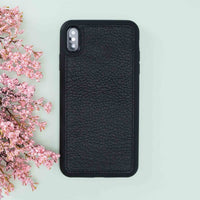 "Magic Magnetic Detachable Leather Wallet Case for iPhone XS Max (6.5"") - PATTERNED BLACK - saracleather"