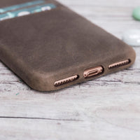 Ultra Cover CC Leather Case for iPhone 8 Plus / 7 Plus - BROWN - saracleather