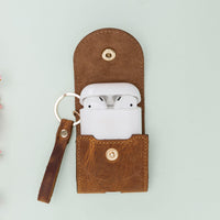 Mai Leather Case for AirPods 1 & 2 - TAN - saracleather