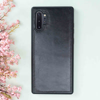 Magic Magnetic Detachable Leather Wallet Case for Samsung Galaxy Note 10 Plus / Note 10 Plus 5G - BLACK - saracleather