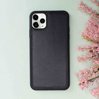 "Magic Magnetic Detachable Leather Wallet Case for iPhone 11 Pro (5.8"") - BLACK - saracleather"
