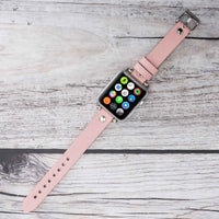 Ferro Strap - Full Grain Leather Band for Apple Watch 38mm / 40mm - PINK - saracleather