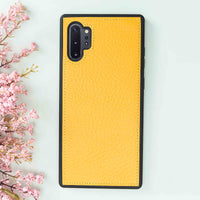 Magic Magnetic Detachable Leather Wallet Case for Samsung Galaxy Note 10 Plus / Note 10 Plus 5G - YELLOW - saracleather