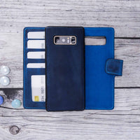 Liluri Magnetic Detachable Leather Wallet Case for Samsung Galaxy Note 8 - BLUE - saracleather