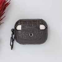 Juni Leather Capsule Case for AirPods Pro - SMOKED - saracleather