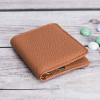 Aaron Leather Men's Bifold Wallet - TAN - saracleather