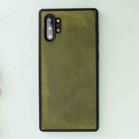 Liluri Magnetic Detachable Leather Wallet Case for Samsung Galaxy Note 10 Plus / Note 10 Plus 5G - GREEN - saracleather