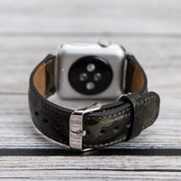 Full Grain Leather Band for Apple Watch 38mm / 40mm - CAMOUFLAGE GREEN - saracleather