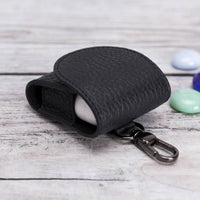 Mai Magnet Leather Case for AirPods 1 & 2 - BLACK - saracleather