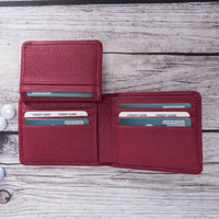 Carlos Leather Men's Bifold Wallet - BORDEAUX - saracleather