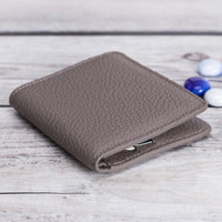 Aaron Leather Men's Bifold Wallet - GRAY - saracleather