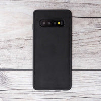 Liluri Magnetic Detachable Leather Wallet Case for Samsung Galaxy S10 Plus - BLACK - saracleather