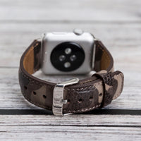Full Grain Leather Band for Apple Watch 38mm / 40mm - CAMOUFLAGE BROWN - saracleather