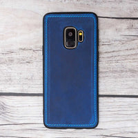 Liluri Magnetic Detachable Leather Wallet Case for Samsung Galaxy S9 Plus - BLUE - saracleather