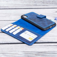 "Liluri Magnetic Detachable Leather Wallet Case for iPhone XR (6.1"") - BLUE - saracleather"