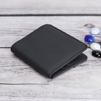 Aaron Leather Men's Bifold Wallet - DARK GRAY - saracleather