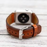 Full Grain Leather Band for Apple Watch 38mm / 40mm - EFFECT TAN - saracleather