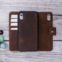 "Adel Magnetic Detachable Leather Wallet Case for iPhone XR (6.1"") - BROWN"