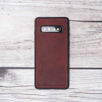 Liluri Magnetic Detachable Leather Wallet Case for Samsung Galaxy S10 - RED - saracleather