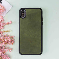 "Santa Magnetic Detachable Leather Tri-Fold Wallet Case for iPhone X / XS (5.8"") - GREEN - saracleather"