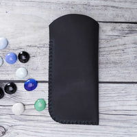 Leather Case For Glasses - BLACK - saracleather