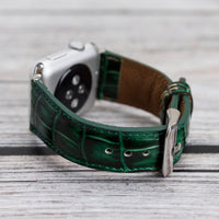 Full Grain Leather Band for Apple Watch 38mm / 40mm - GREEN - saracleather