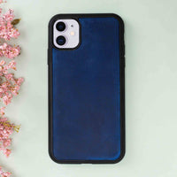 "Santa Magnetic Detachable Leather Tri-Fold Wallet Case for iPhone 11 (6.1"") - BLUE - saracleather"