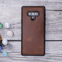 Adel Magnetic Detachable Leather Wallet Case for Samsung Galaxy Note 9 - TAN - saracleather