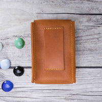 Troy Leather Case for Cigarette - TAN - saracleather