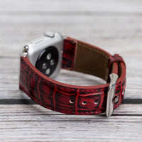 Full Grain Leather Band for Apple Watch 38mm / 40mm - RED - saracleather
