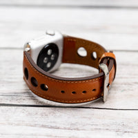 Holo Strap: Full Grain Leather Band for Apple Watch 38mm / 40mm - TAN - saracleather