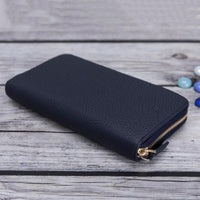 Seville Women's Leather Wallet - NAVY BLUE - saracleather