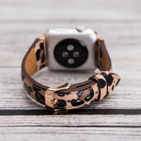 Slim Strap - Full Grain Leather Band for Apple Watch 38mm / 40mm - LEOPARD PATTERNED