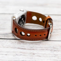 Holo Strap: Full Grain Leather Band for Apple Watch 38mm / 40mm - EFFECT TAN - saracleather
