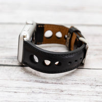 Holo Strap: Full Grain Leather Band for Apple Watch 38mm / 40mm - BLACK - saracleather