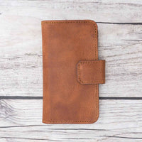 Liluri Magnetic Detachable Leather Wallet Case for iPhone SE / 5S / 5 - BROWN - saracleather