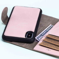 "Magic Magnetic Detachable Leather Wallet Case for iPhone XS Max (6.5"") - PINK - saracleather"