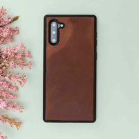 Liluri Magnetic Detachable Leather Wallet Case for Samsung Galaxy Note 10 - BROWN - saracleather