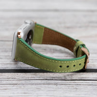 Slim Strap - Full Grain Leather Band for Apple Watch 38mm / 40mm - GREEN - saracleather