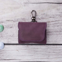 Mai Magnet Leather Case for AirPods Pro - PURPLE - saracleather