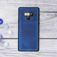 Liluri Magnetic Detachable Leather Wallet Case for Samsung Galaxy Note 9 - BLUE - saracleather