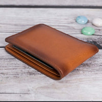 Pier Leather Men's Bifold Wallet - EFFECT BROWN - saracleather