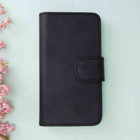"Liluri Magnetic Detachable Leather Wallet Case for iPhone 11 Pro Max (6.5"") - BLACK - saracleather"